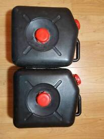 caravan waste water containers x2