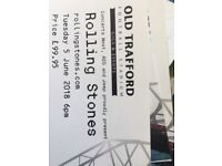 4 X Rolling Stones tickets Tuesday 5th June seated