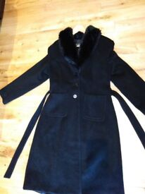 Ladies black size 16 coat from Warehouse