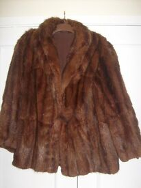 2 Vintage fur jackets - 1 Musquash jacket and 1 fake fur jacket.