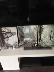 3 French canvases