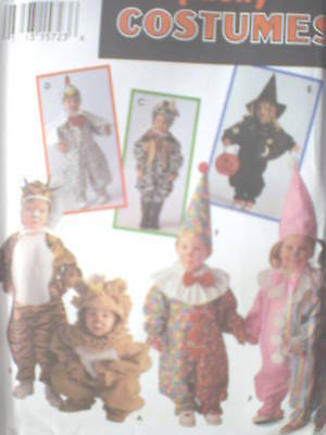 9116 UNCUT Vintage Simplicity SEWING Pattern Halloween Costume Bear Lion Toddler
