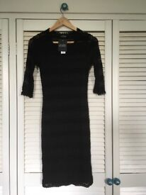 Black lace Topshop Maternity dress, size 8, never worn, labels still attached.