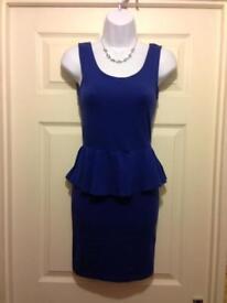Blue Peplum Dress from New Look size 6
