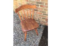 Rubber wood dining table and two matching chairs