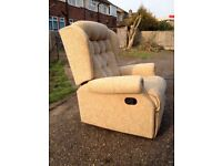 Recliner Chair. Sherborne Lynton Royale. With simple Manual Reclining Mechanism.
