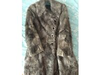 Fur coat Brioni genuine silk leather size 8 to 10