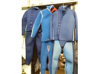 10 WET SUITS AND 1 CHILD'S NEOPRENE DRY SUIT