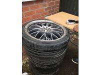 Audi tyres 18 inch with rims £249