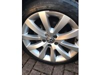 Genuine VW 17inch alloy wheels, tyres and caps