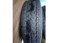 2 brand new 195/65/15c tyres on transit rims