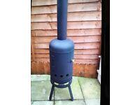 Gas bottle wood burner log burner Chiminea.