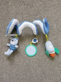 Wrap around toy for cot pram or car seat