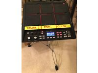 Roland SPD sx Sample pad with Roland clamp and stand BOXED with all accessories