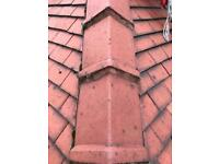 Red Clay Roof Ridge Tiles - Reclaimed Rosemary
