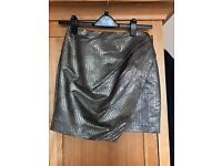Ladies gold short skirt River Island