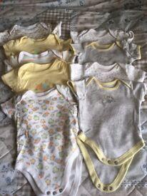 0-3month neutral vests x9