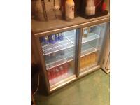 Under counter double beer fridge