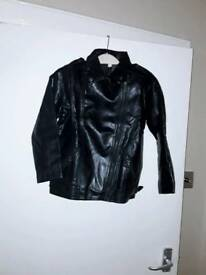 Boys leather look jacket