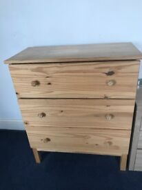 Large three draw chest of draws for sale
