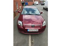 Toyota avensis 1.8 petrol in red 71k mileage look