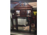 Victorian Mahogany Overmantle
