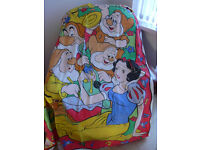 BEAUTIFUL DISNEY SNOW WHITE DUVET COVER & PILLOW CASE - IMMACULATE! Unusual