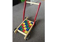 Number and letter blocks walker
