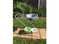 Camping dishbowl and drainer