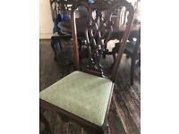 Solid real wood dining table and chairs