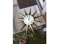Clock gold sun