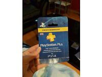 Playstation plus 3 month card unopened