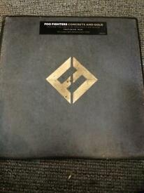 FOO FIGHTERS LP VINYL CONCRETE AND GOLD DOUBLE LP INC MP3 DOWNLOAD VOUCHER UNPLAYED CAN POST UK