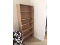 Homebase Bookcase 6 shelf very good condition light wood effect