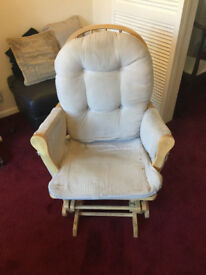 Nursery Rocking Chair with Foot Stool Glider