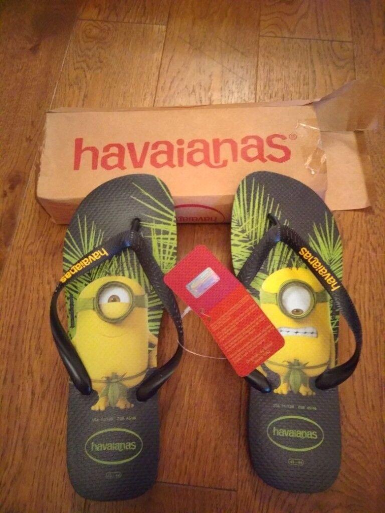 1133e08a4ee6d Brand New size 45-46 (10-11 UK ) Havaianas Minions Flip Flops Sandals