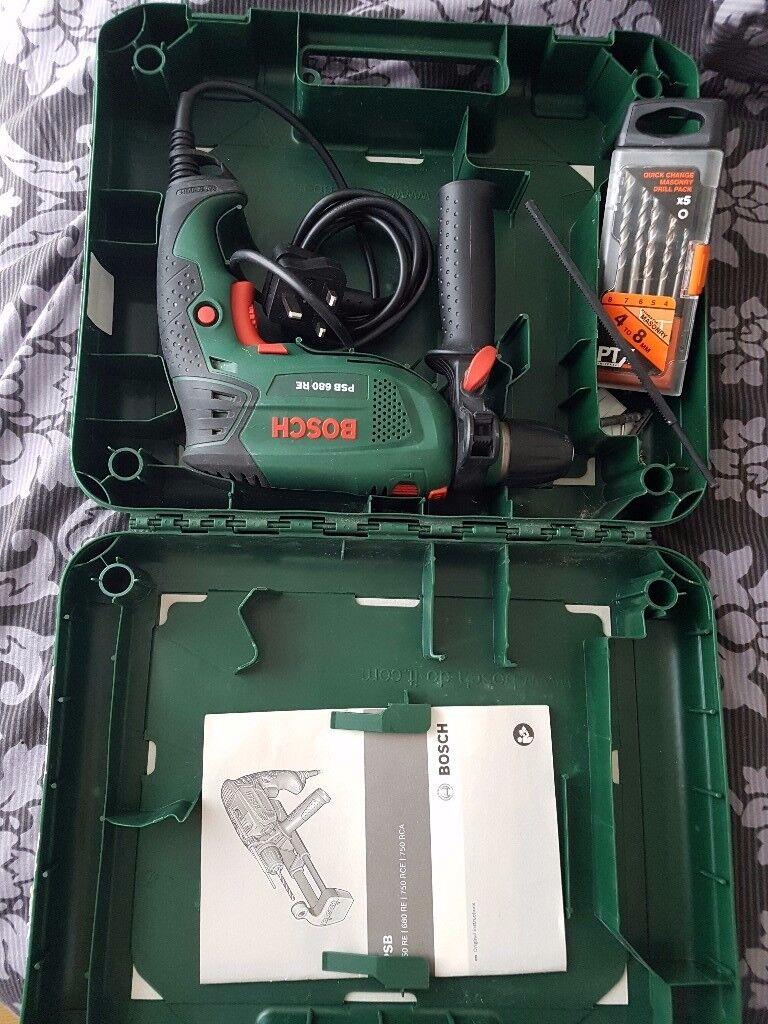 Bosch PSB 680 RE Compact Hammer Drill + Drill bits