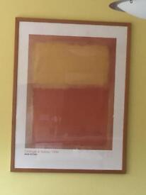 Mark Rothko orange and yellow framed print