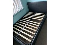 Free Faux Black Leather Queen Size Bed + Mattress* must go this weekend*