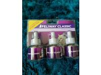 Feliway classic diffuser with refill and unopened pack of 3 refills