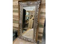Stunning large luxurious champagne coloured designer leaner mirror