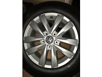 Vw T6 alloys and Hankook 205/65/R16 they are virtually brand new with only 10miles on them