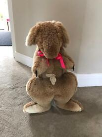 Authentic Australian Kangaroo with Joey in pouch