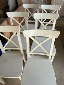6 IKEA ingolf dining chairs