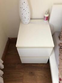 2 Ikea bedside tables