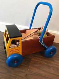 Metal toy baby walker