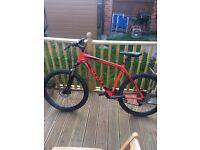 Red and Black Scott 640 Aspect Mountain Bike