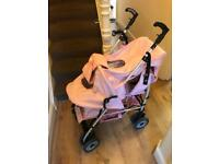 Pink pushchair/pram for sale
