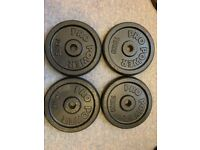 Cast Iron Weight Discs - 10kg x 4 (20kg x (Plates Barbell Dumbbell Gym Fitness Bench 20kg 40kg)
