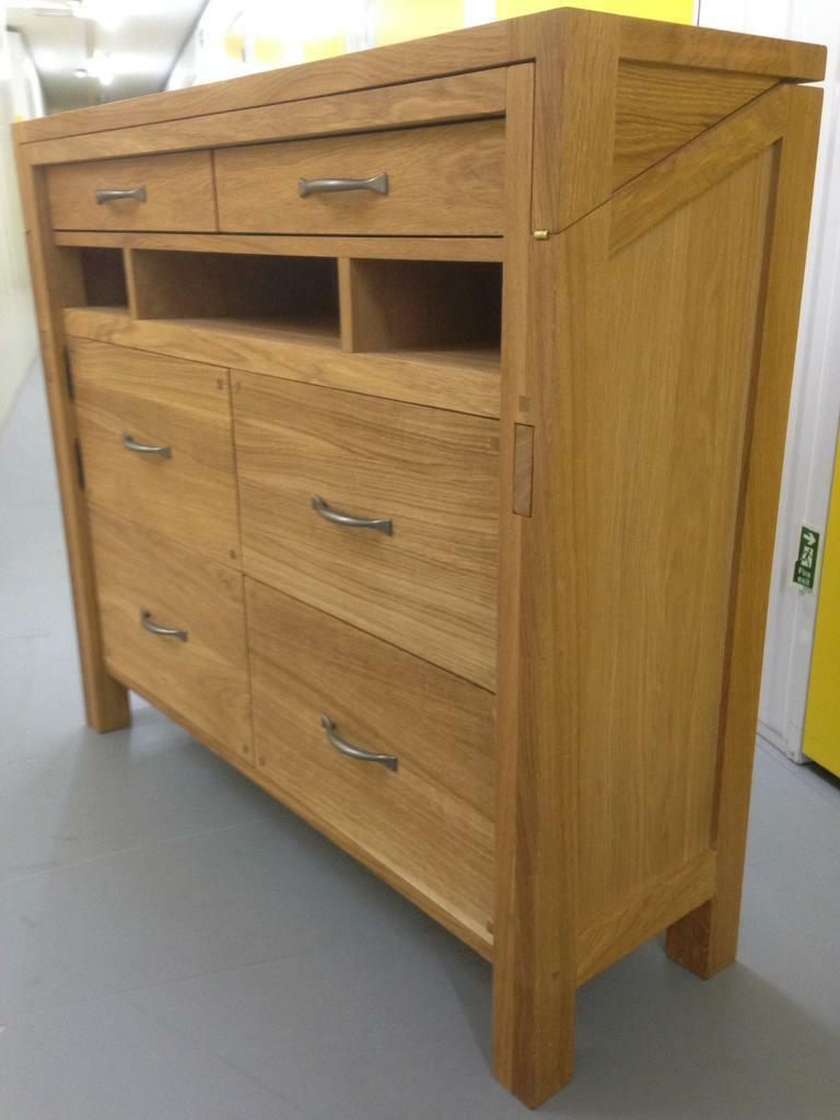 Laura Ashley Solid Oak Milton Bureau Desk Sideboard Dresser Furniture Chest Drawers Lombok Raft